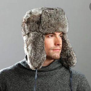 Crown Cap Rabbit Fur Aviator Russian Style Hat